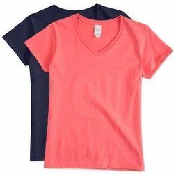 25f335d8ae32 Ladies Plain Cotton T Shirt, Size: S To XXL, Rs 80 /piece | ID ...