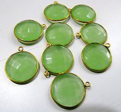 Green Chalcedony Briolette Connector