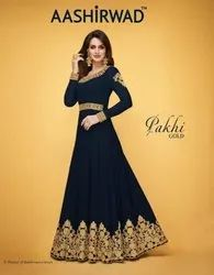 Party Wear Embroidery Gown