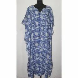 Women's Party Wear Cotton Kaftan Dress
