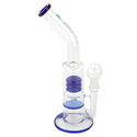 Glass Smoking Bong Showerhead With Honeycomb Disk 12 Inch