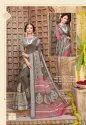 Vinamra Corporation Silver Patta Vol 2 Cotton Saree With Silver Zari Patta Concept