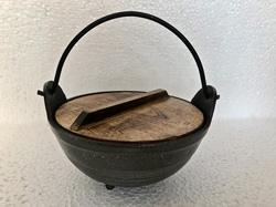 Teflon Karahi Dish with Wooden Cover