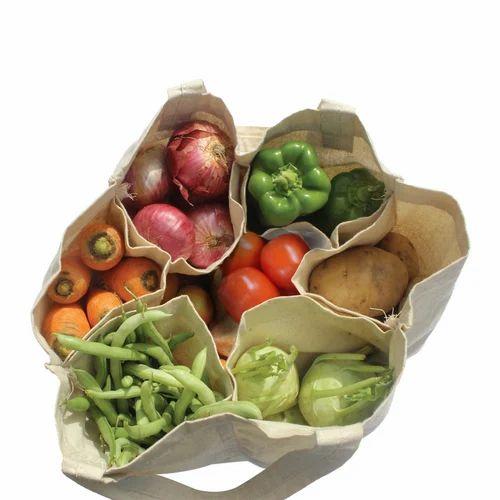 Astara Plain Multi Pouch Grocery Bag