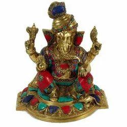 Capstona SW Brass Padgi Ganesh Idols