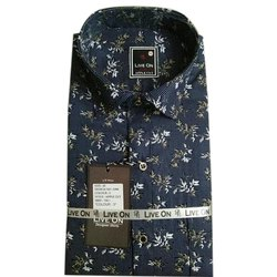 Live On Cotton Men Modern Printed Shirt