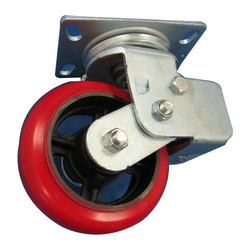 Red Polyurethane Trolley Caster Wheel