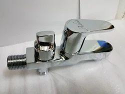 Wall Mounted Brass Opal Series 2 Way Bib Cock, For Bathroom Fitting