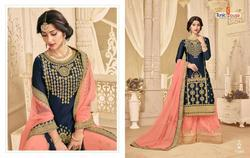 Tunic House Dulhan Series 53001-53005 Stylish Party Wear Satin Georgette Suit