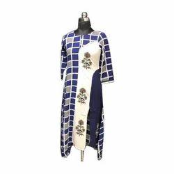 Rayon Plain Ladies Kurti, Size: M, L & XL