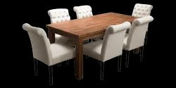 Coffee Brown Dining Set 6 Seater