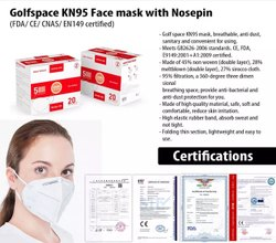Golfspace KN95 Face masks with Nosepin
