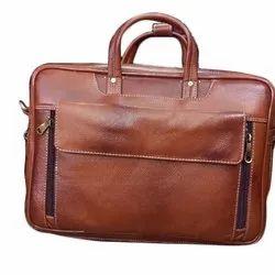 Plain Brown Leather Executive Bag