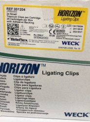 Horizon Yellow Ligating Clips