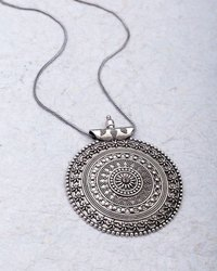 Silver Jaipur Oxidised Chain with Pendant