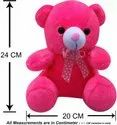 Pink 24x20 CM Stuffed Teddy Bear