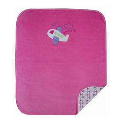 Plain Baby Velour Double Layered Pink Blanket