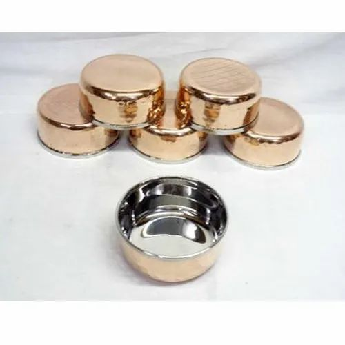 Round Stainless Steel Copper Bowl