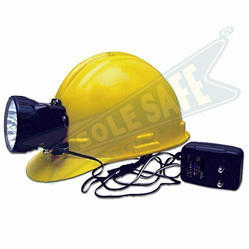 Helmet and Head Lamp (Rechargeable Battery)