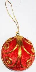 Holding Christmas Ball
