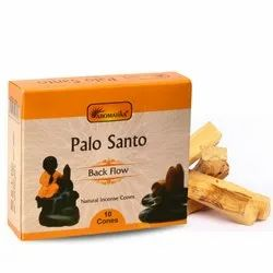 Aromatika Palo Santo Backflow Natural Incense 120 Cones in Box of 12 Packs