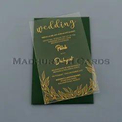 Clear Original Acrylic Wedding Invitation, Size: 5