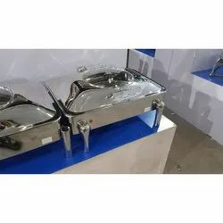 Silver Stainless Steel Chafing Dish, for Party