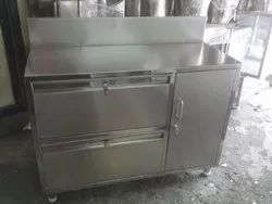 Stainless Steel Table with 3 Lockers & 3 Drawers