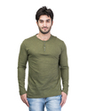 Fashionable Men Full Sleeves Henley Neck T-Shirt