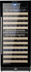Black Dual Temperature Zone Wine Cooler - 100 bottles, Storage Capacity: 308 Lts
