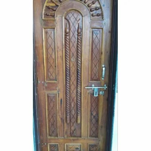 Finished Exterior Teak Wood Door, for Home, Size: 7 X 3.5 Ft