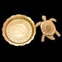 Ssgj Kachua Meru Yantra With Plate Charan Paduka Tortoise Plate