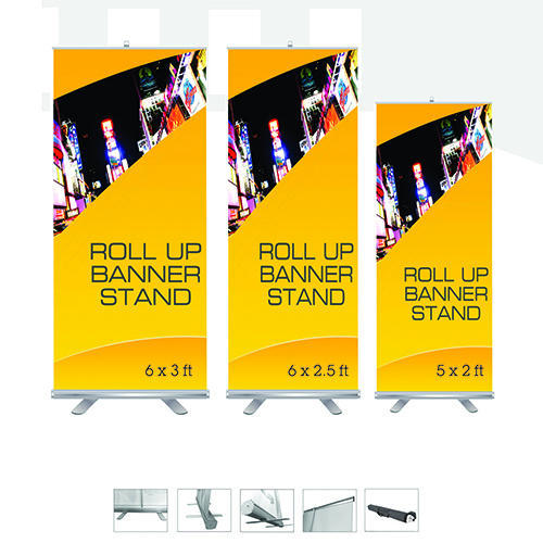 Roll Up Standee Size 6x3 And Display