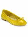 Yellow Daisy Woven Leather Ballerinas