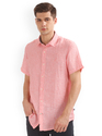 Pink Half Sleeve Shirts For Men