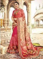 Kesari Exports Pink Printed Daily Wear Sarees