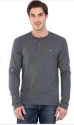Charcoal Melange Long Sleeve T Shirt