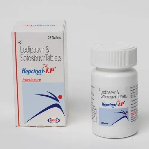 Hepcinat LP Tablet Ledipasvir 90mg Sofosbuvir 400mg, Pack: 28 Tablets