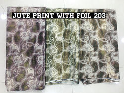 Jute Print with Foil Fabric