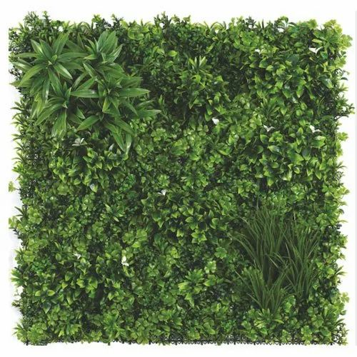 Designers 1 Tile = 10.764 sq.ft Plastic Artificial Green Wall, for Balcony Walls
