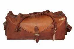 Dcuir Club Brown Ladies Luggage Sling Bag, Size: 20 X 07 Inch