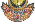 Handicraft Clock Peacock Shape