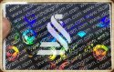 Rainbow Holographic Ribbon For Printing On PVC Cards