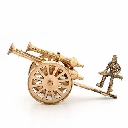 Brass Rajasthani Canon Handicraft Home Decor