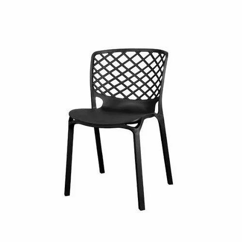 Nilkamal Black Plastic Cafe Chairs