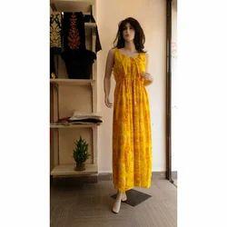 Stitched Cotton Ladies Fancy Gown