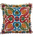 Indian Suzani Pillows Pom Pom Cushion Cover