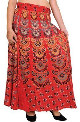 f101cbafe82 Long Multicolor Indian Mandala Wrap Around Skirts