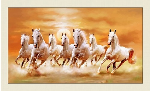Canvas Seven Horses Painting Rs 2150 Piece Shine India