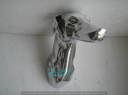 Metal Wall Mounted Greyhound Head Sculpture